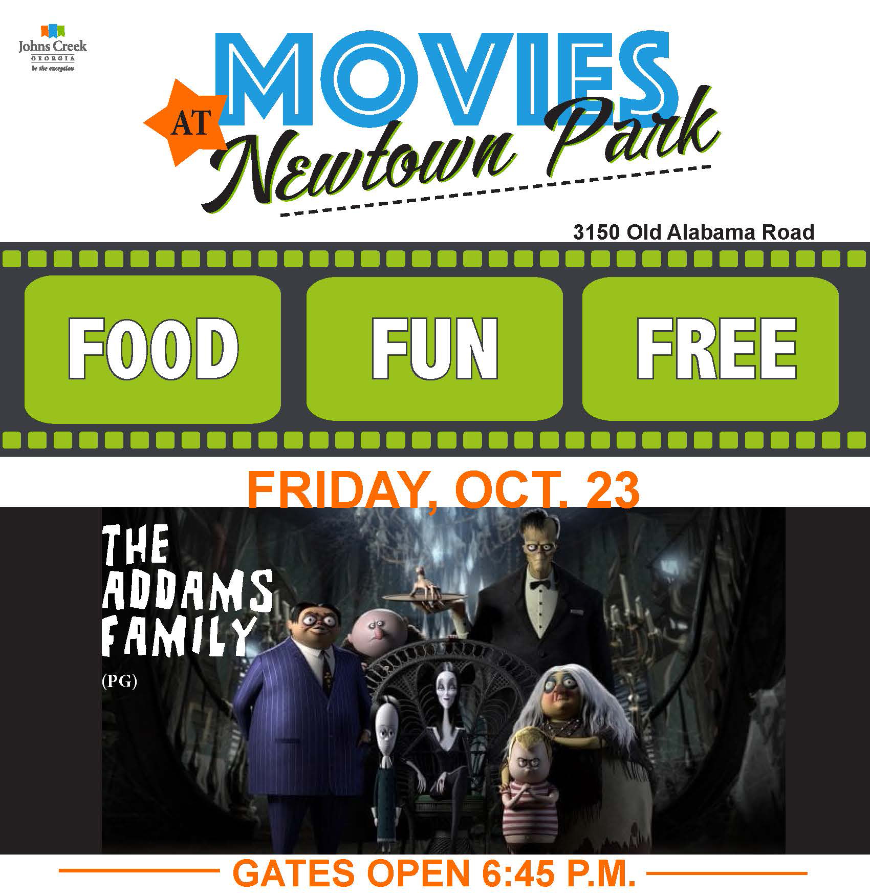 Movie Night returns to Newtown Park on Friday, Oct. 23
