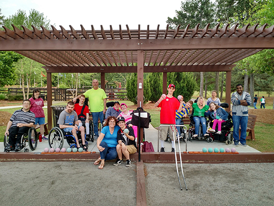 Special Needs Bocce Ball held on Tuesdays