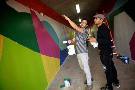 Pedestrian tunnel mural grand opening set for Saturday, April 21