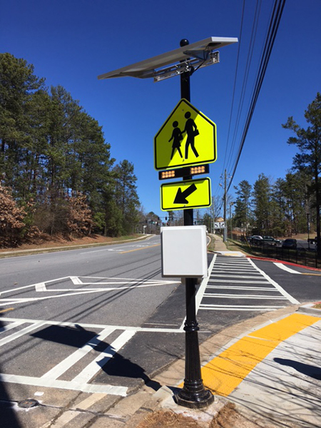 City installs new pedestrian crosswalk near Dolvin Elementary