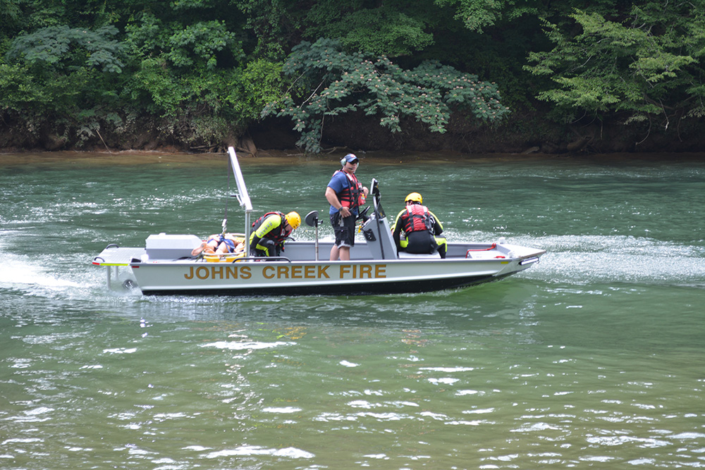 Be safe, check water release schedule before entering the Chattahoochee River