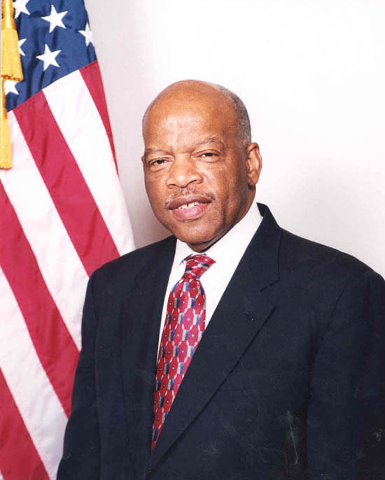 City flags lowered to half staff in honor of Congressman John Lewis