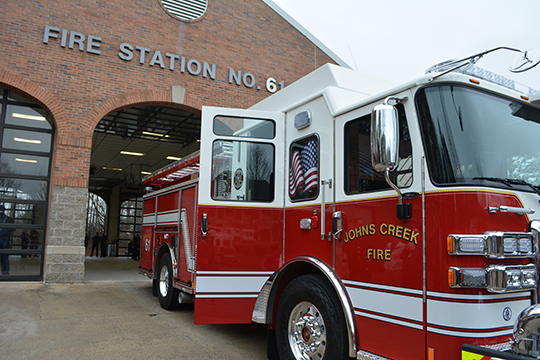 Johns Creek Fire Department unveils new fire engine
