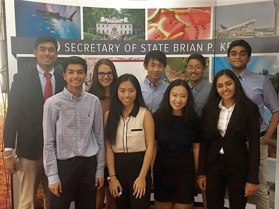 Student Leadership Johns Creek students win Secretary of State Ambassadors Competition