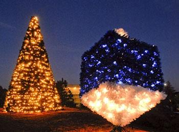 Johns Creek - Christmas Tree and Dreidel Lighting ushers in 2016 ...