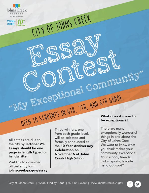 Johns Creek - 2016 Exceptional Essay Contest